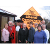 Fawdon Lib Dems celebrate the birthday of the city's oldest party member - local resident Tommy Sivell, 100 years young!
