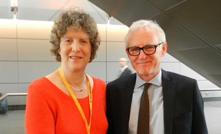 Cllr Wendy Taylor with Norman Lamb MP