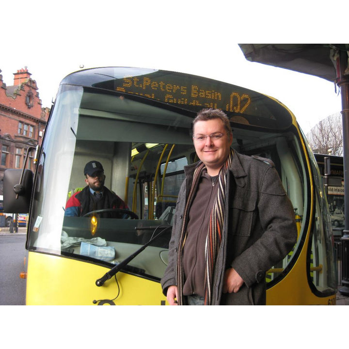 Greg Stone on the buses
