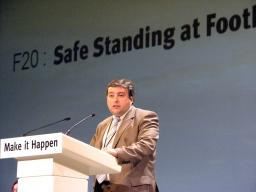 Ron Beadle addressing the Lib Dem 2008 autumn conference in Bournemouth