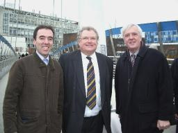 The new bridge opening event, held on 22nd January 2008.