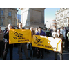 Local Lib Dem councillors and activists join a rally against the Iraq War at Newcastle's Monument