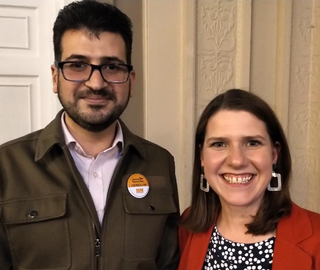 Cllr Ali Avaei and Jo Swinson