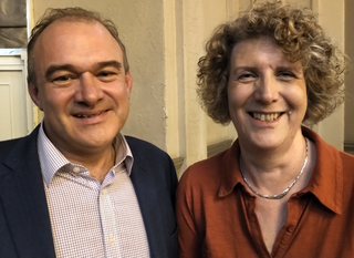 Ed Davey and Wendy Taylor