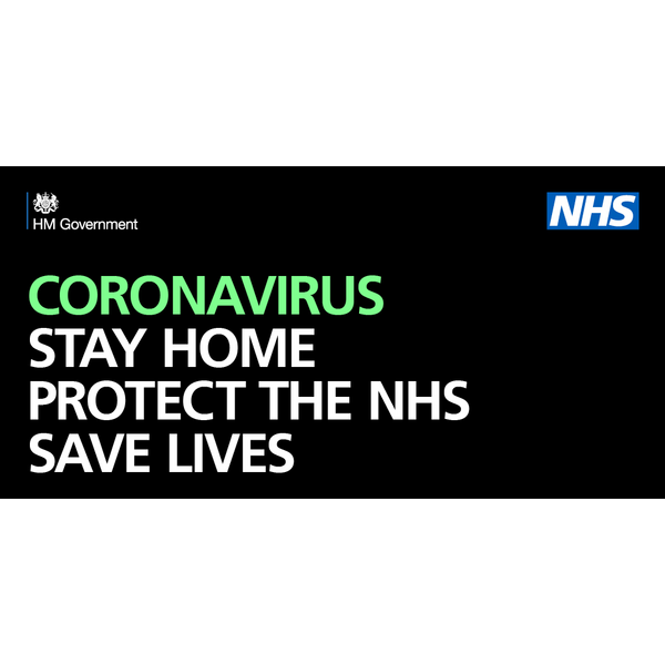 Stay Home, Stay Safe Coronavirus Message
