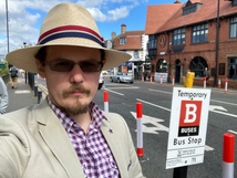 Cllr Phil Hall - bus stop
